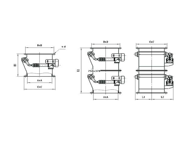 XHF系列單、雙層快速翻板卸灰閥