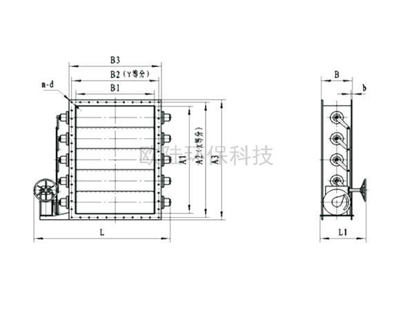 TJZB-0.5C百葉式氣流調節器