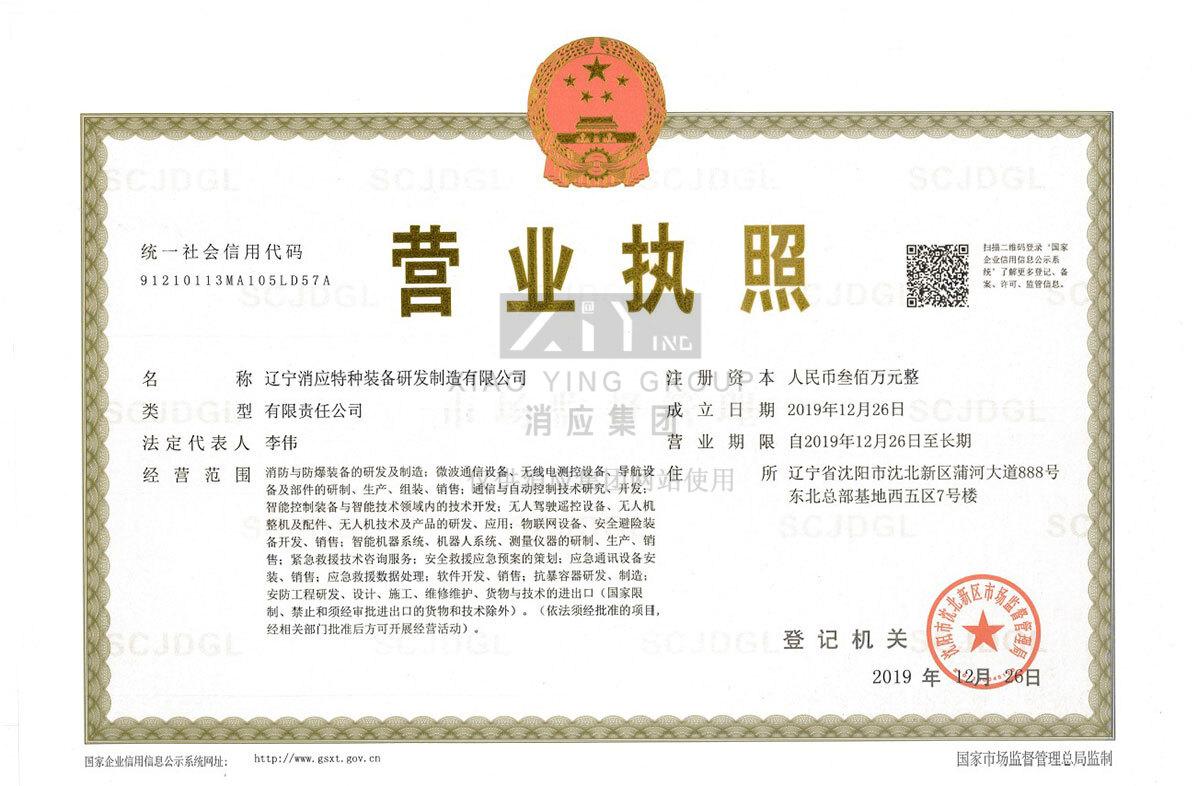 辽宁消应特种装备研发制造有限公司营业执照