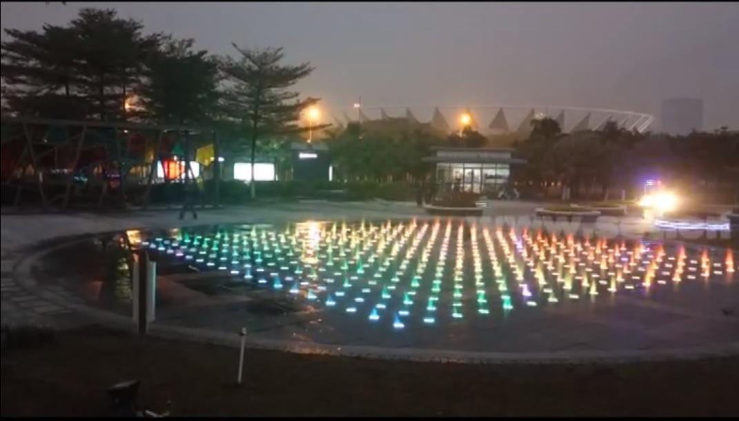 佛山市佛山公园矩阵音乐喷泉