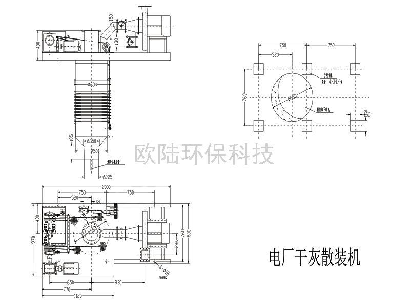 OLDZ250型(電廠粉煤灰)粉體散裝裝車機