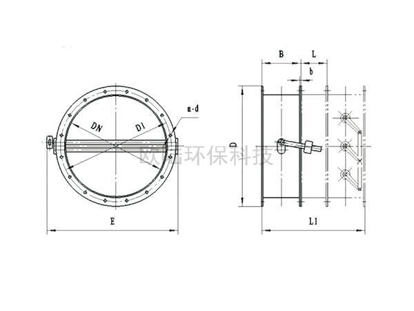NHTWH-0.5C逆止式氣流調節器