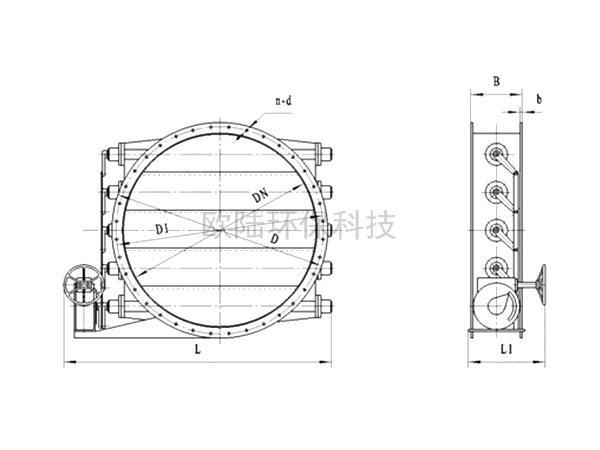 百葉式手動氣流調節器