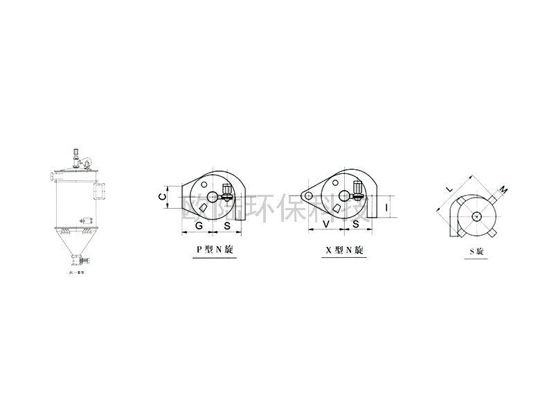 ZC-Ⅱ/Ⅲ型機械回轉反吹扁袋除塵器